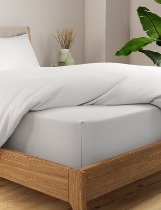 Marks and Spencer Egyptian Cotton 400 Thread Count Percale Extra Deep Fitted Sheet