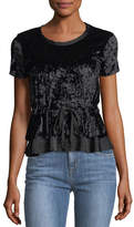 W by Wilt Velvet Cinch-Waist Top