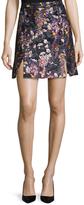 Carven Jacquard Split Hem A Line Skirt
