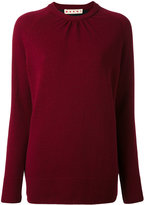 Marni bi-colour crew neck sweater - women - Polyester/Virgin Wool - 40