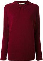 Marni bi-colour crew neck sweater - women - Polyester/Virgin Wool - 44