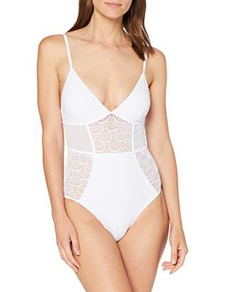New Look Women's Textured Panelled Swimsuit,(Size:14.0)