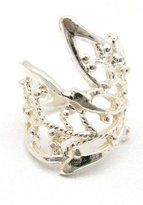 silverjewelryforever Sterling Silver .925 Wirework Leaf Design Ear Cuff Wrap