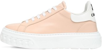 Casadei 20mm Flore Leather Sneakers