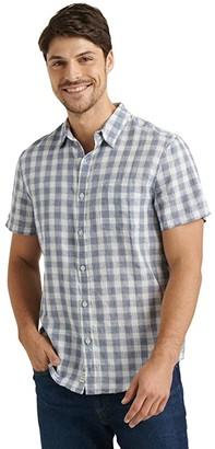 Lucky Brand Ballona One-Pocket Shirt (Blue Print) Men's Clothing
