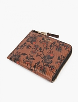 Paul Smith Brown Printed Leather Wallet