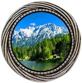 GiftJewelryShop Ancient Style Silver Plate larch tree German Alps Winding Pattern Pins Brooch