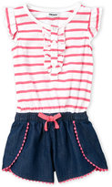 DKNY Toddler Girls) Striped Romper