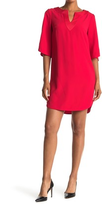Trina Turk Clairette Elbow Length Sleeve Dress