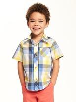 Old Navy Poplin Pocket Shirt for Toddler Boys
