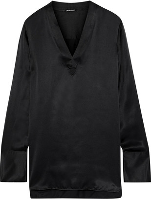 Elie Tahari Blaze Silk-satin Top
