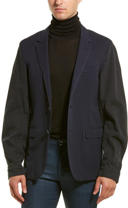 Lanvin Twill-Sleeve Wool Jacket