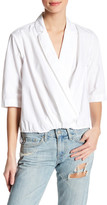 Michael Stars Surplice Collared Blouse