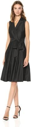 Anne Klein Women's Soft Denim Notch Collar Wrap Dress