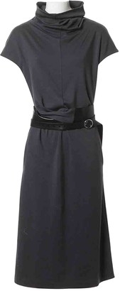 Celine Anthracite Wool Skirt for Women