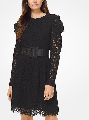 MICHAEL Michael Kors MK Corded Floral Lace Dress - Black - Michael Kors