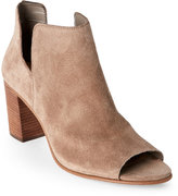 Steve Madden Taupe Suede Nello Open Toe Bootie