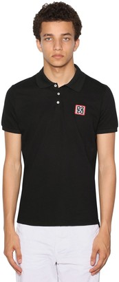 DSQUARED2 LOGO NEW CLASSIC COTTON PIQUE POLO SHIRT