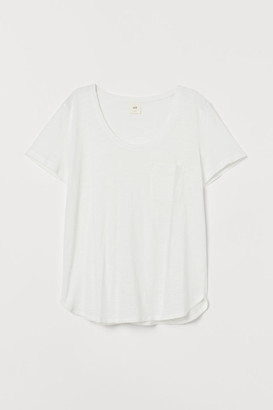 H&M Low-cut T-shirt - White