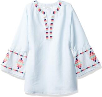 Foxcroft Women's Reagan in Mini Stripe with Embroidery Shirt