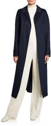 Max Mara Dora Long-Sleeve Long Wrap Double-Face Wool Coat
