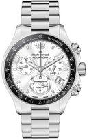 a・i・n Claude Bernard Women's 10212 3 AIN Aquarider Silver Chronograph Tachymeter Steel Watch