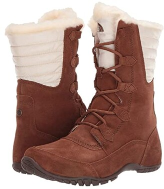 The North Face Nuptse Purna II (Dachshund Brown/Vintage White) Women's Boots