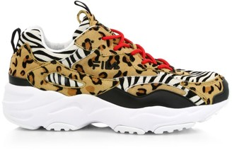 Fila Ray Tracer Patchwork Animal-Print Sneakers