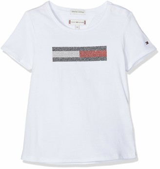 Tommy Hilfiger Baby Girls' Lurex Flag Embroidery Tee S/s T-Shirt