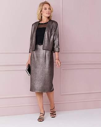 Nightingales Metallic Dress And Jacket