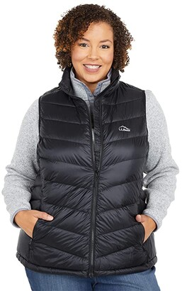 L.L. Bean L.L.Bean Plus Size Ultralight 850 Down Vest (Black) Women's Clothing