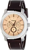 Fossil Men's FS5170 Machine Chronograph Dark Leather Watch