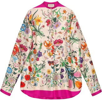 Gucci Oversize shirt with Flora print