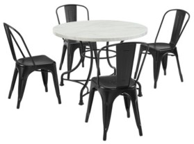 "Crosley Madeleine 40"" 5 Piece Dining Set With Amelia Chairs"