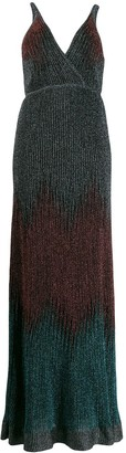 M Missoni deep V-neck dress