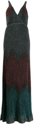 M Missoni deep V-neck dress