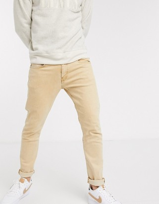 Levi's 512 slim tapered fit jeans in desert boots stonewash tan