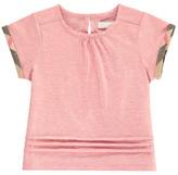 Burberry Tartan Detail Gisselle T-Shirt