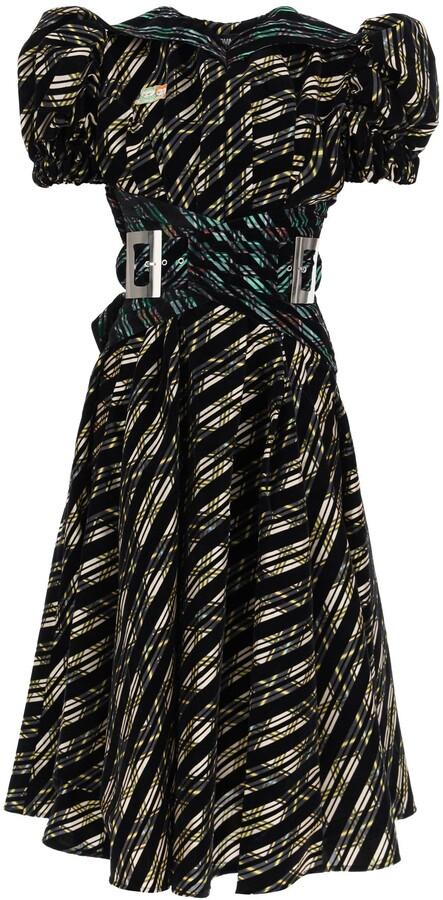 Thumbnail for your product : Chopova Lowena Patchwork Puff-Sleeve Midi Dress