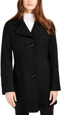 Anne Klein Petite Single-Breasted Peacoat, Created for Macy's