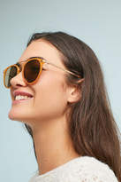 Anthropologie Marigold Brow-Bar Aviator Sunglasses