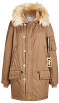 Marc Jacobs Parka Coat with Faux Fur Trim