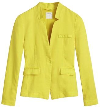 Sandwich Clothing - Yellow Linen Long Sleeves Jacket - xs