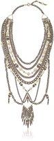 """Ettika The White Statement Brass Necklace, 17"""" + 1.5"""" Extender"""