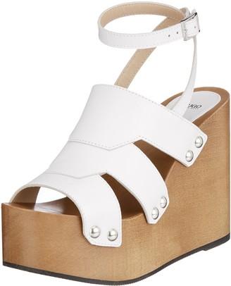 HUGO BOSS Women's Uptown Wedge-s Ankle Strap Sandals