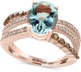 Effy Final Call Aquamarine (2-5/8 ct. t.w.) and Diamond (5/8 ct. t.w.) Ring in 14k Rose Gold