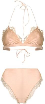 Oseree lace trim bikini