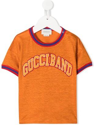 Gucci Kids Gucciband motif T-shirt