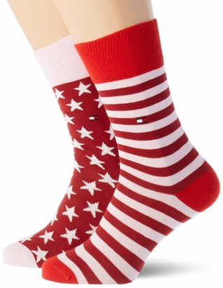 Tommy Hilfiger Girl's Th Kids Sock 2p Stars and Stripes