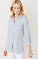 J. Jill Two-Pocket Linen Shirt